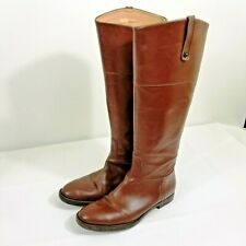 Enzo Angiolini Ellerby Brown Leather Tall Riding Boots  women's Size 7M