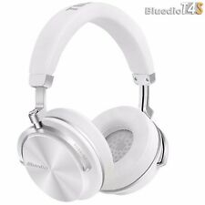 Bluedio T4S Bluetooth 4.2 Cordless Headphones Stereo ANC White Headset, Mic