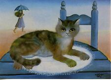 POSTCARD CARTE POSTALE ILLUSTRATEUR RENATE KOBLINGER N° LA 154 CAT / CHAT