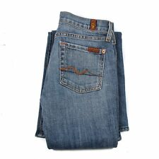7 FOR ALL MANKIND Women's Jeans Casual Size 24 Flared Zip fly Blue Authentic