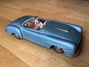Beautiful original German tinplate Mercedes car with driver c1940s