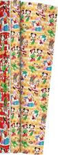 6m (2 x 3m) Disney Christmas Gift Wrapping Paper Roll - Mickey Mouse & Friends