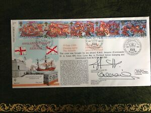 RAF Flown Cover - HMS AMAZON / OSPREY - Anniversary of The Armada - Dual Signed