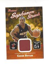 2003-04 BOWMAN SOPHOMORE STRANDS CARON BUTLER GAME-WORN JERSEY #SOS-CBU HEAT