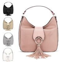 Ladies LYDC Tassel Shoulder Bag Holiday Slouch Handbag Travel Tote Bag GL60410