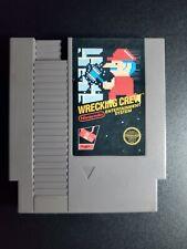 Wrecking Crew Black Box Game Authentic Nintendo NES NRMT condition 5 Screw cart