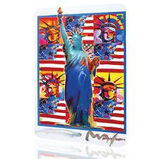 METAL TIN SIGN New York Peter Max Decor Patriotic USA Flag Art Wall Home Garage