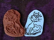 Pussy in Love - Unmounted Rubber Stamp
