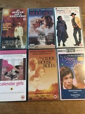 Bundle Of 6 VHS Videos Slipper & Rose Cider House Rules Blue Sky Calendar Girls