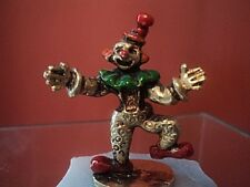 Vintage George Good Judy 24k Gold Plated Pewter Clown Figurine