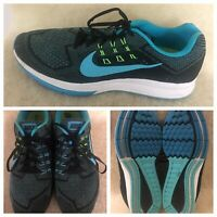 NIKE Air Zoom Structure 18 Mens US Size 13 EUR 47.5 Blu Lagoon Shoes 683731-401