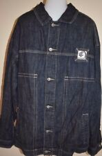 Mens Roca Wear Jean Jacket XL Dark Blue Denim Coat rap hip hop rocawear