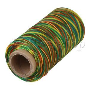 180M Flat Polyester Waxed Thread Cord Sewing 210D for DIY Tool Hand Multicolor