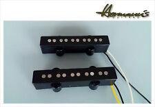 5 String Jazz Bass Open Style Vintage 60s Alnico V Flatwork Pickup Set handwound