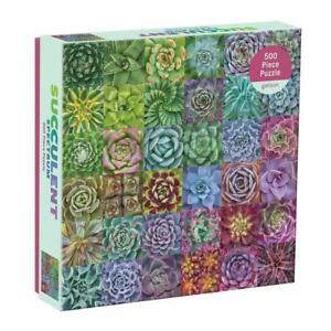 Troy Listen - Succulent Spectrum 500 Piece Jigsaw Puzzle by Galison