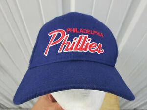 VINTAGE NIKE MLB PHILADELPHIA PHILLIES SCRIPT SNAPBACK CAP HAT PREOWNED EXC