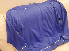 NEW MENS NIKE BLUE WHITE POLYESTER ATHLETIC TRACK JACKET RN#56323 3XL TALL 3XLT