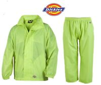 Waterproof Suit Windproof Dickies Jacket Trousers Workwear Adults Packaway