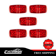 "5pcs 4""x2"" Trailer Marker Light Red Double Bulls Eye 10 Diodses LED Sealed"