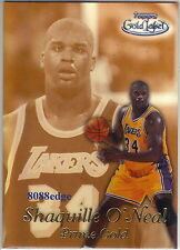 1999-00 TOPPS GOLD LABEL PRIME GOLD (BLACK):SHAQUILLE O'NEAL #PG4 LA LAKERS 1:90