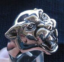 Stainless Steel Wild Panther Ring Custom Sized handmade cat Free Spirit R-53ss