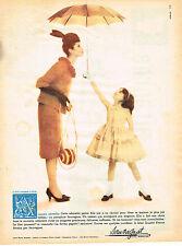 PUBLICITE ADVERTISING  1958   SAUVAGNAT  parapluie