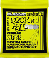 Ernie Ball 2251 Classic Rock N Roll Regular Slinky Guitar Strings gauges 10-46