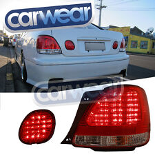 CLEAR RED LED TAIL LIGHT LEXUS GS300 GS400 GS430 98-04 CLEAR RED LED TAIL LIGHTS