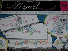 VTG. VOGART #626 - GRACEFUL KITTENS FOR BEDROOM - HOT IRON TRANSFER PATTERN FF