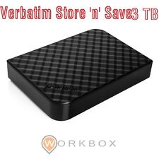 HD ESTERNO 3,5 HDD Verbatim Store 'n' Save USB 3.0 3.1 Gen1 3000GB 3TB 47684