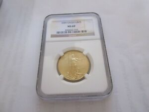 2009 Gold Eagle , $25 , NGC , MS 69  Gold Half Ounce