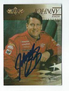 Johnny Benson Signed 2000 Upper Deck Card #26   NASCAR