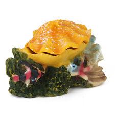 Bubbling Colorful Air Action Shell Aquarium Ornament Fish Tank Oyster Decor
