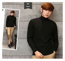 Man casual Cashmere Loose Pullover Turtleneck Knit Sweater Cardigans Jumper coat