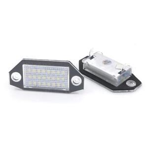 7000K 2pcs Error Free 18LED License Plate Lights For Ford Mondeo MK3 2000-2007