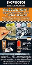Quixx Headlight Restoration Kit & Lens Sealer Headlamp Restorer Prevent & Cure