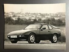"""1985 Porsche 924 S Coupe B&W Press Factory Issued Photo """"Werkfoto"""" RARE! Awesome"""