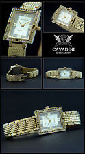 Oblong Women's Watch Chevalier Cavadini Designer Stainless Steel IP Gold Plated