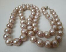 "Large Natural 28"" Genuine 10mm -11mm Golden Pink South Seas Pearl Necklace"