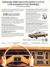 1981 Cadillac Eldorado Coupe Original Advertisement Print Art Car Ad J902