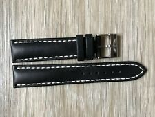 New Current Model Breitling 428X 20mm Black Calf Leather Watch Strap & Buckle