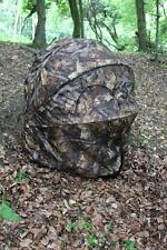 2 Man Shooting Double Hide Tent Blind Chair Forest Leaf Camo Pop Up Folding Seat