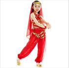 KID's Belly Dance Costume 5pcs set Dancewear Sequins Shining Party Halloween D