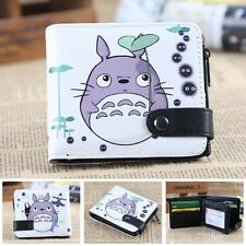 Ghibli totoro cosplay Leather zipper COINS Purse Button Bifold Layered wallet