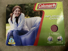 Coleman Inflatable Chair Red Camping Sealed NIB 2004