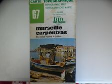 carte IGN verte 67 marseille carpentras 1983