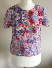 Dorothy Perkins Size 10 Ladies Multi Coloured Floral Print T Shirt Top