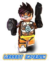 LEGO Minifigure - Slipstream - Overwatch game Tracer minifig NEW! FREE POST