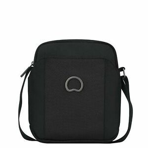 Delsey Black Polyester Shoulder Sling Messenger Bag For Unisex