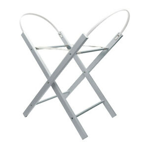 Kinder Valley Opal Folding Moses Basket Stand Grey - Deluxe Solid Pine